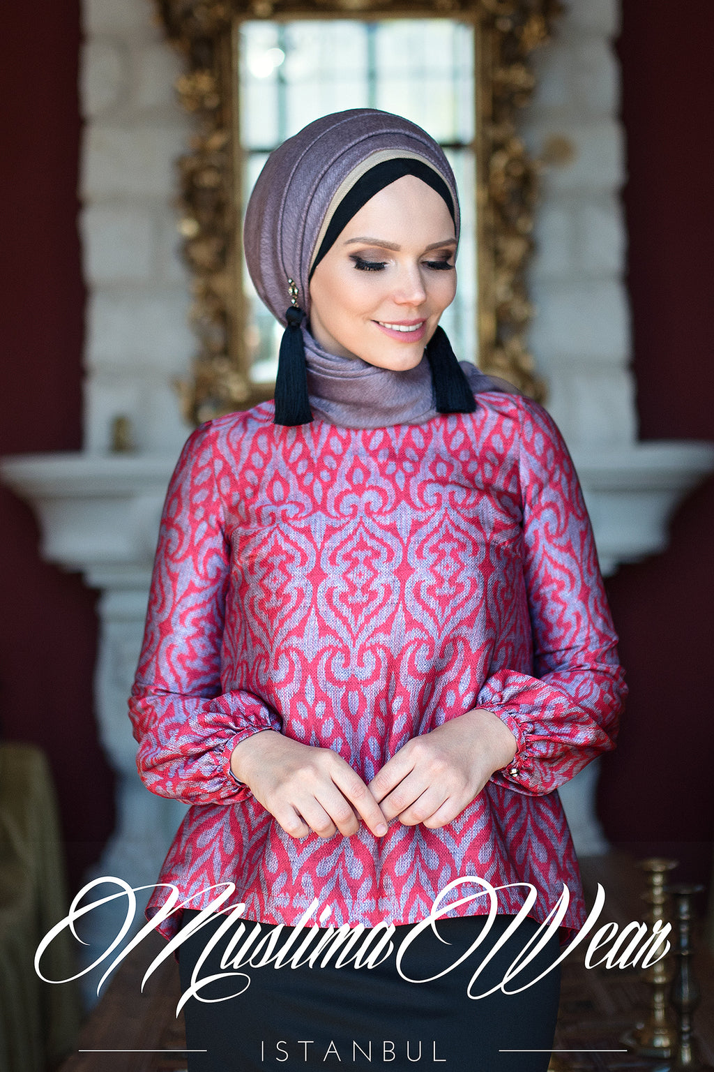 Lale Blouse Ruby