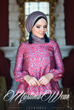 Muslima Wear Lale Blouse Ruby
