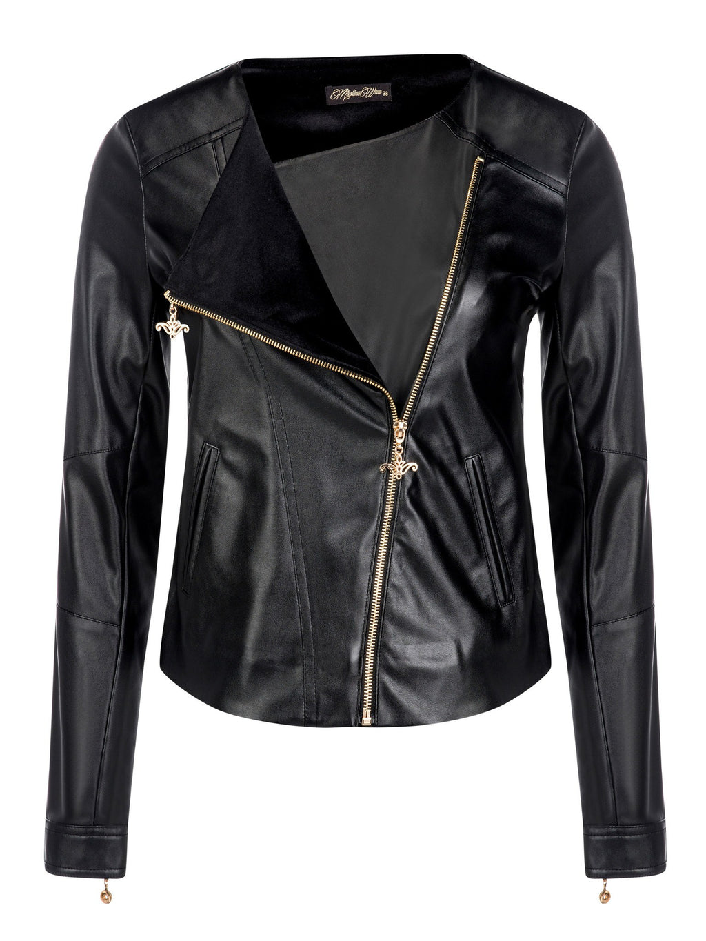 Cross Leather Jacket - Muslima Wear front