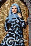 muslima wear mist blue dress 1