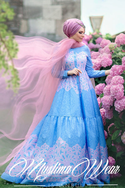 Muslima Wear 2016  -  Fiore Indigo Dress