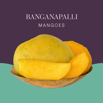 Banganapalli Mangoes - 2kg pack (4 pcs)