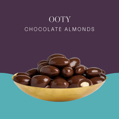 Ooty Chocolate Almonds - Postcard - Local Flavours of India.