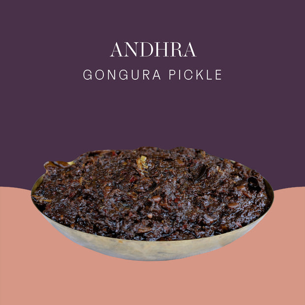Andhra Gongura Pickle - Postcard - Local Flavours of India.
