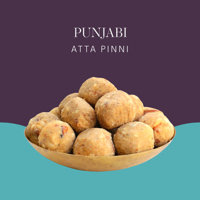Punjabi Atta Pinni - Postcard - Local Flavours of India.