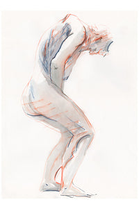 Sketch of a figure in motion. Original work
