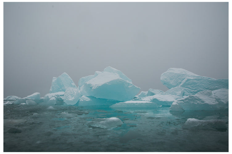 Ice floes in Svalbard