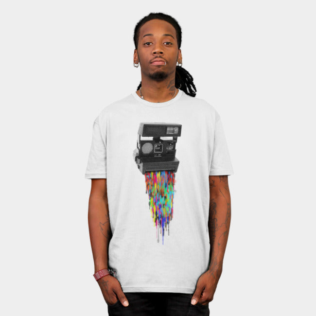 Design By Humans - Pixelshot White T-Shirt by Nils285