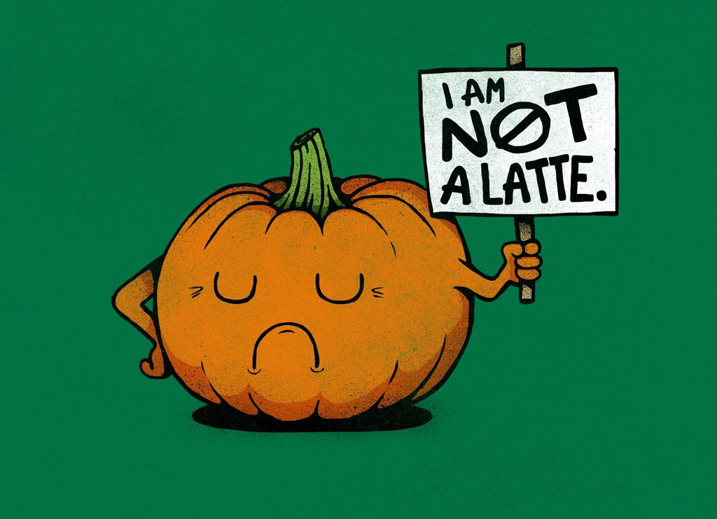 Threadless - A PUMPKIN PROTEST Green T-Shirt by Nicholas Ginty