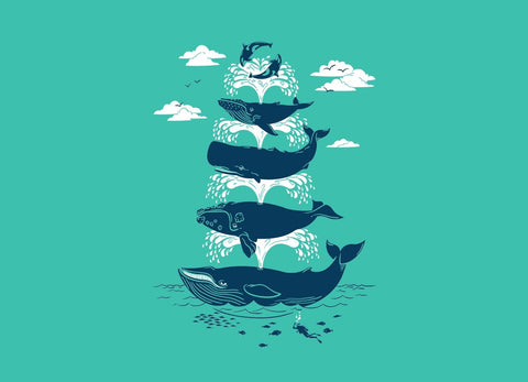 Threadless - WHALE OF A TIME T-Shirt