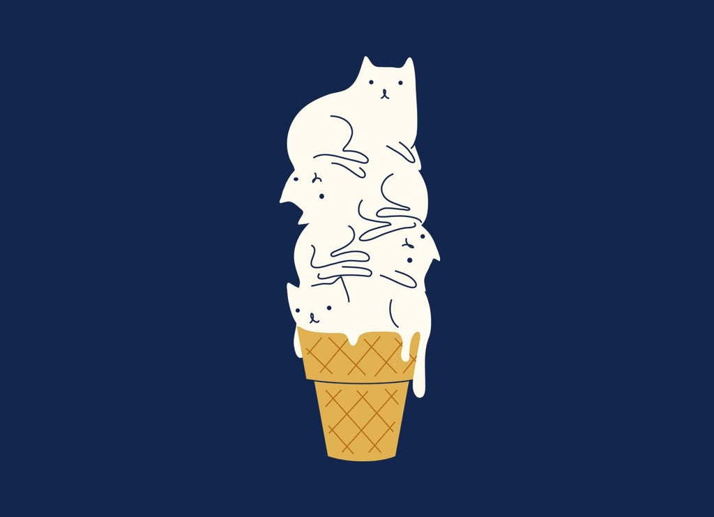 Threadless - MEOWLTING Navy T-Shirt by ilovedoodle