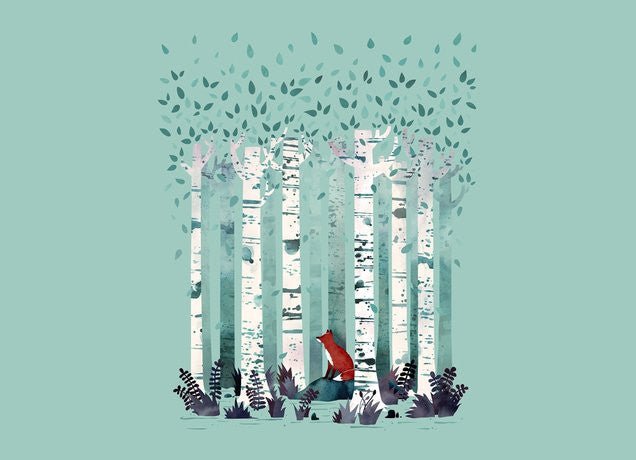 Threadless - THE BIRCHES Grey T-Shirt by Michelle