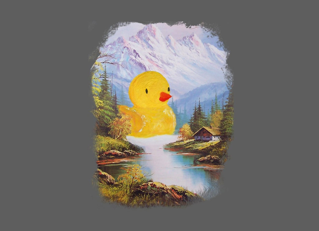 Threadless - So Quack Grey T-Shirt by Always Furthur