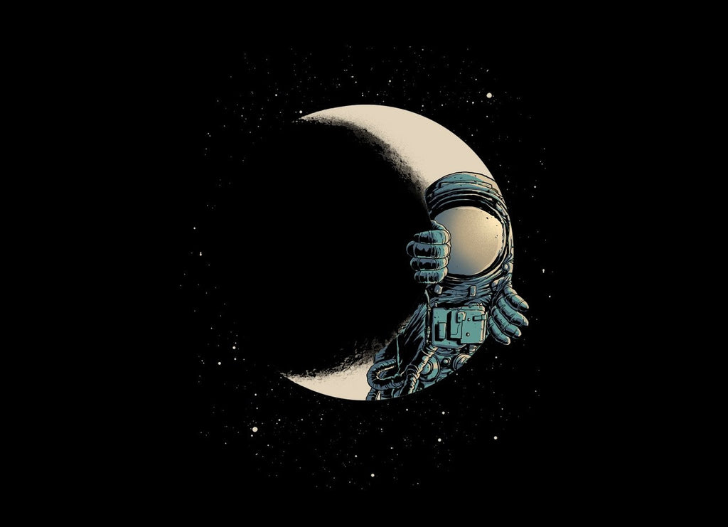 Threadless - CRESCENT MOON T-Shirt by Carbine
