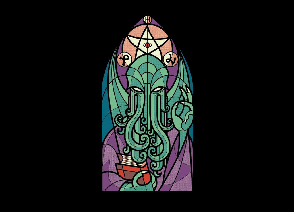 Threadless - CTHULHU'S CHURCH T-Shirt by Gianni Corniola