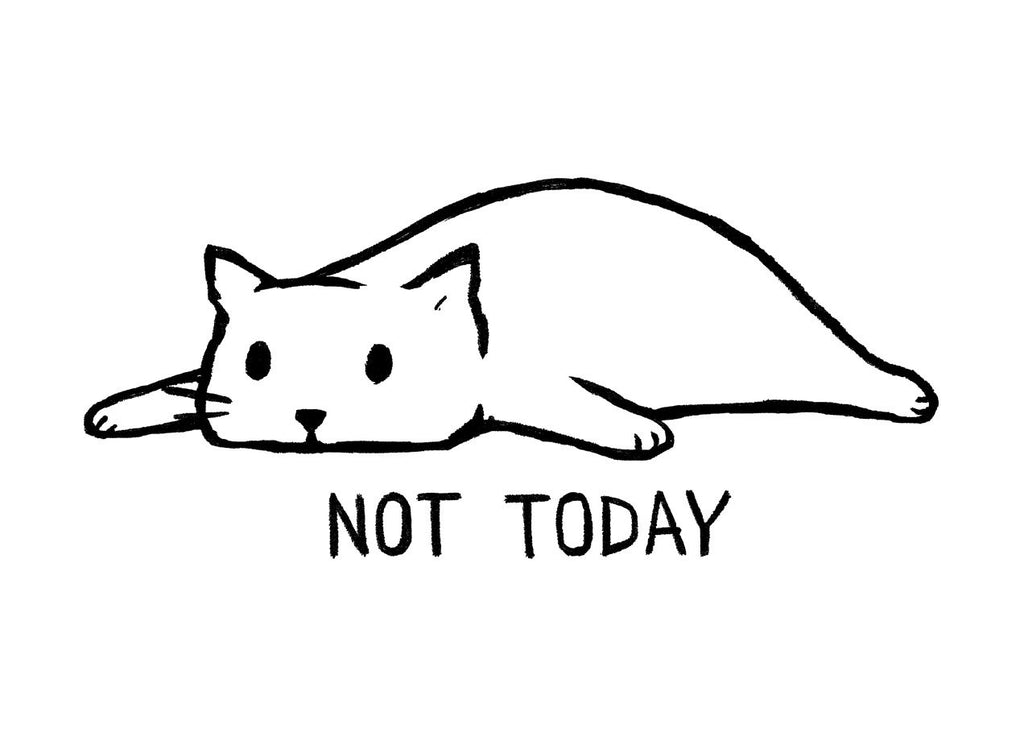 Threadless - Not Today White T-Shirt by Fox Shiver