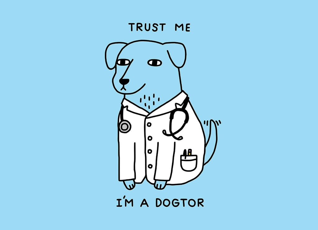 Threadless - Dogtor Light Blue T-Shirt by Joel Robinson