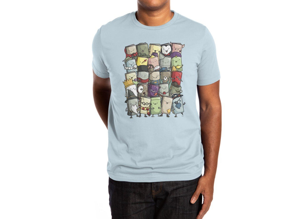 Threadless - STORYTELLERS Light Blue T-Shirt by Maxim Cyr