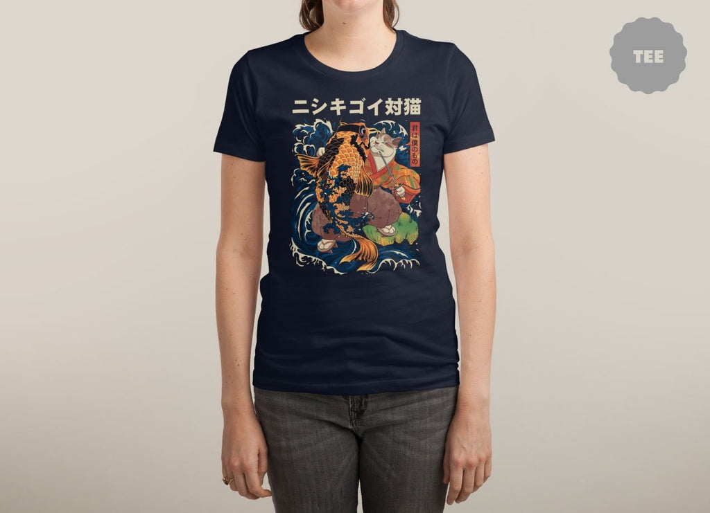 Threadless - THE CAT AND THE KOI T-Shirt