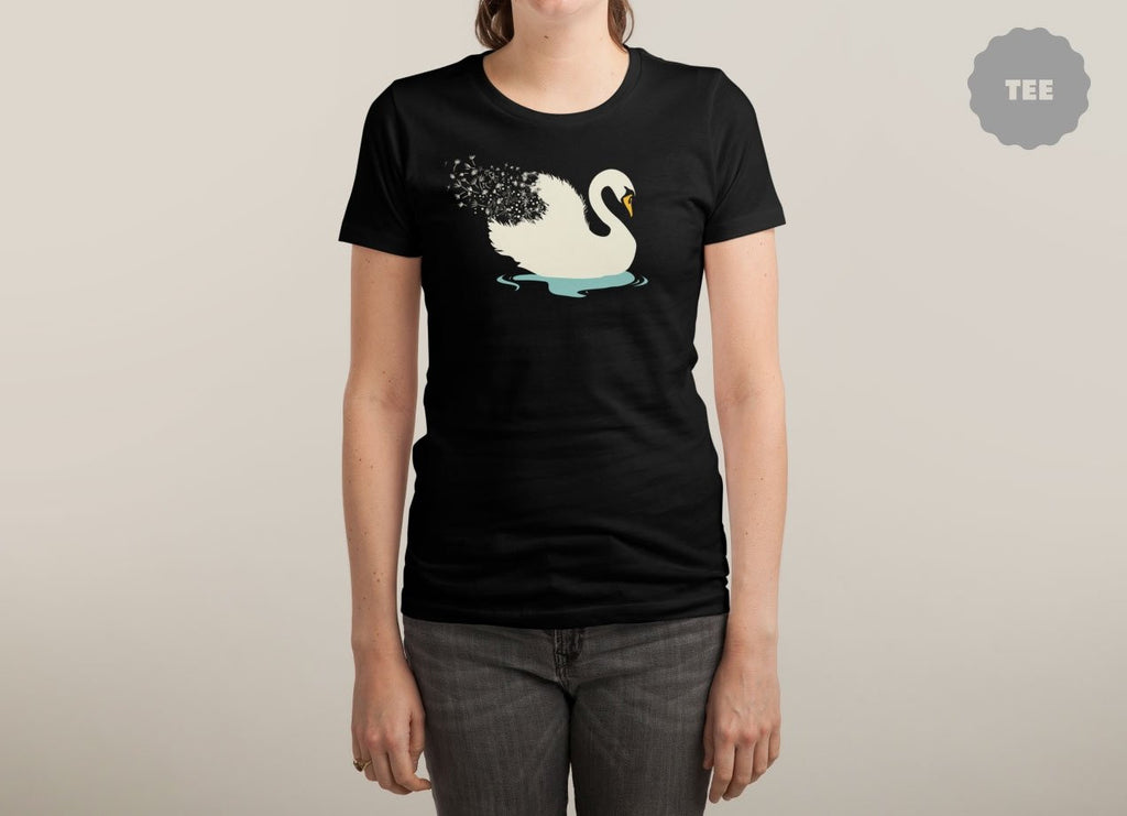Threadless - DEPARTED Black T-Shirt by Zhao Xiang