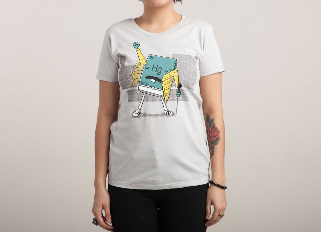 Threadless - FREDDIE MERCURY Grey T-Shirt by Pablo Bustos