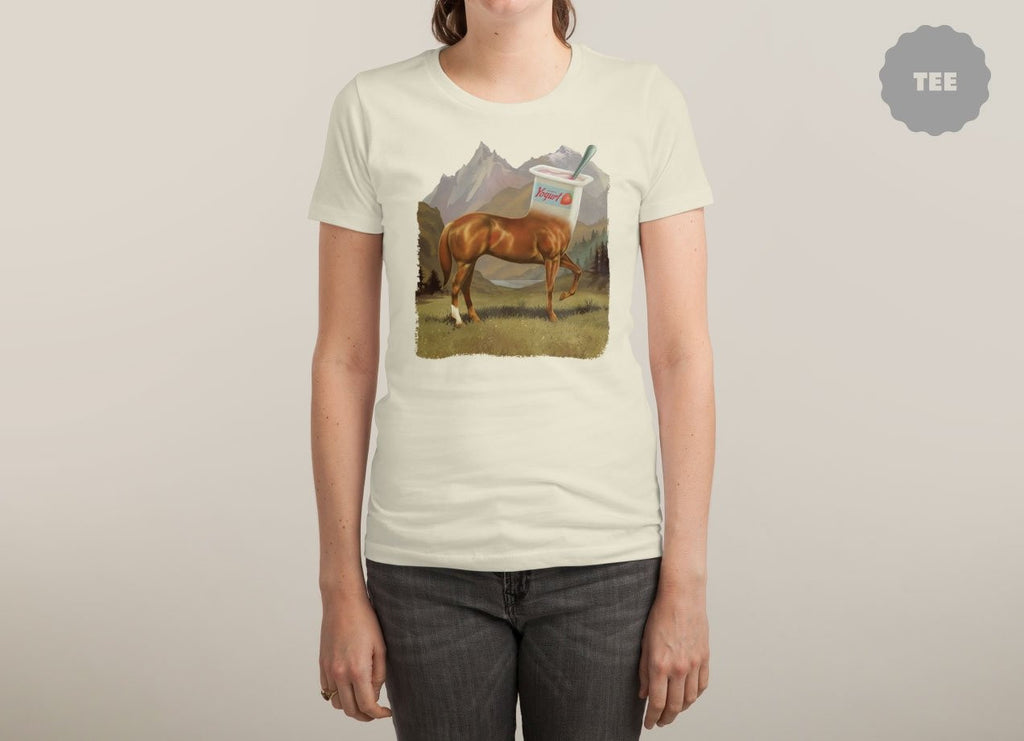 Threadless - HALF HORSE HALF YOGURT White T-Shirt by Steven Rhodes