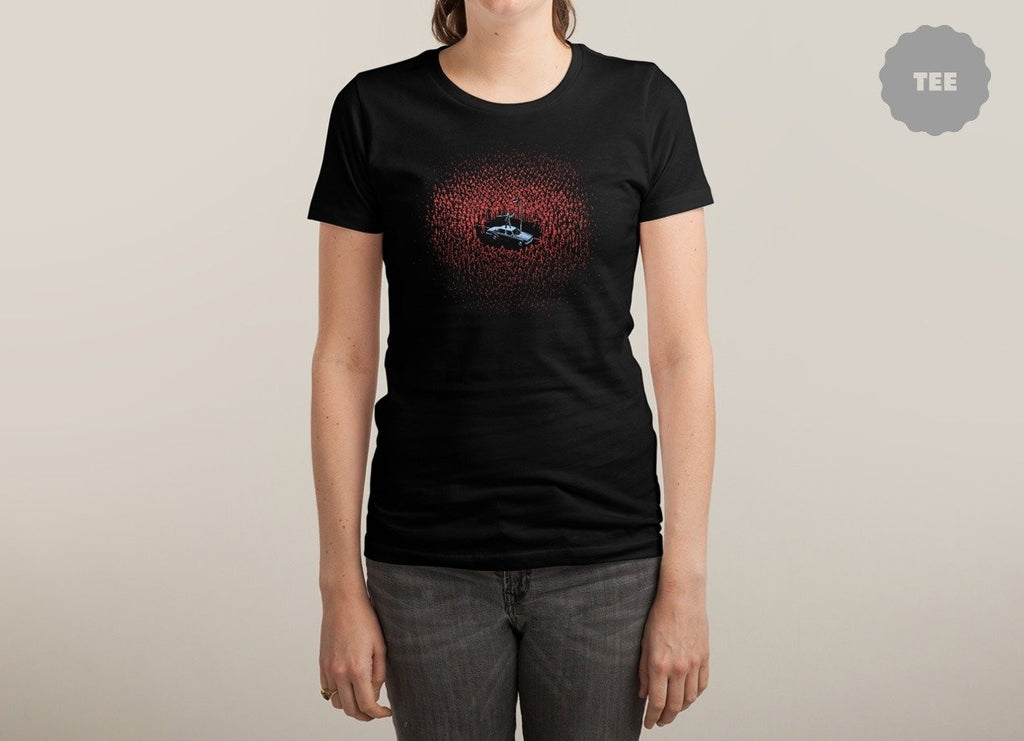 Threadless - THE HORDE Black T-Shirt by Aled Lewis