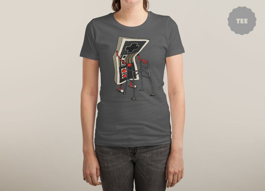 Threadless - OLD GAMER Asphalt T-Shirt by Nicholas Ginty