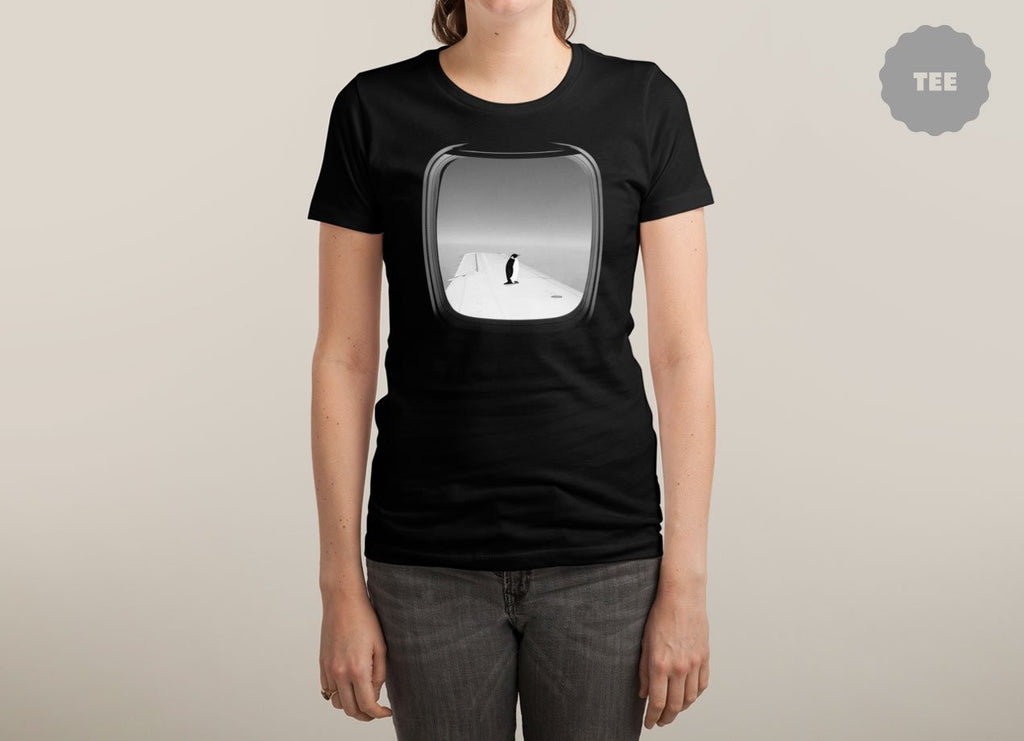 Threadless - WINDOW SEAT Black T-Shirt by Ross Zietz