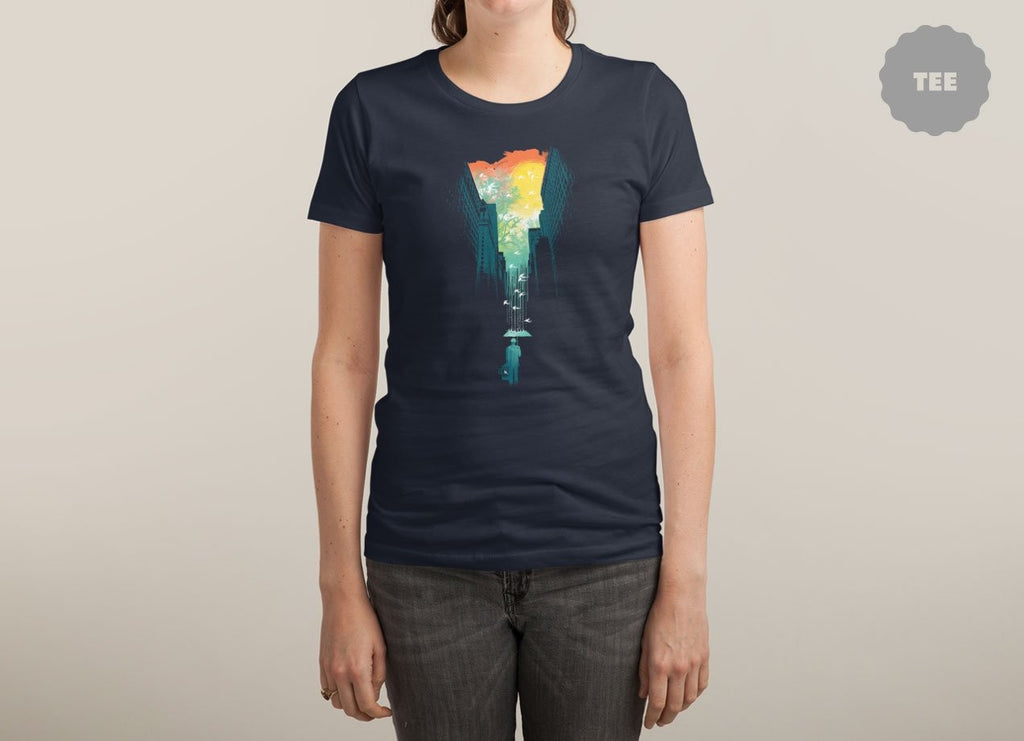 Threadless - I WANT MY BLUE SKY Navy T-Shirt by Budi Satria Kwan