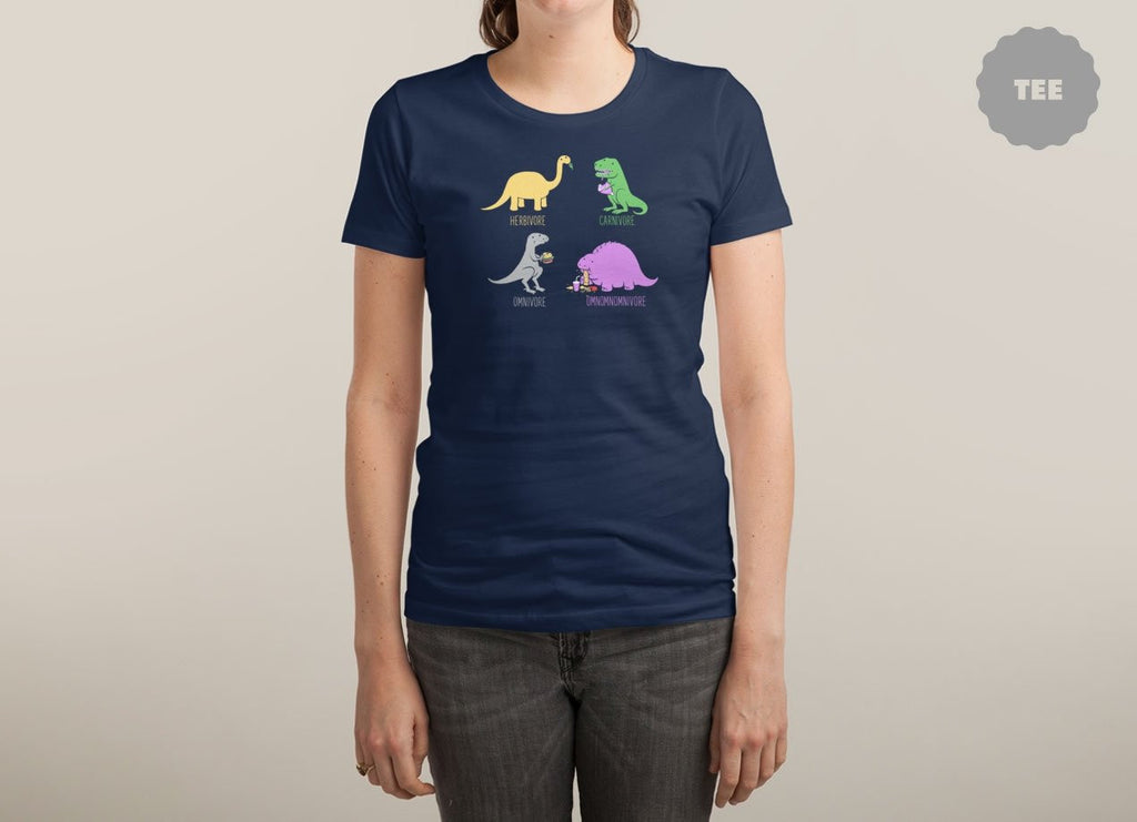 Threadless - OMNOMNOMNIVORE Navy T-Shirt by Aled Lewis