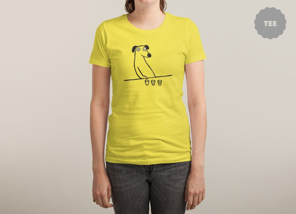Threadless - DOG DRUNKARD Yellow T-Shirt by Paul Goins