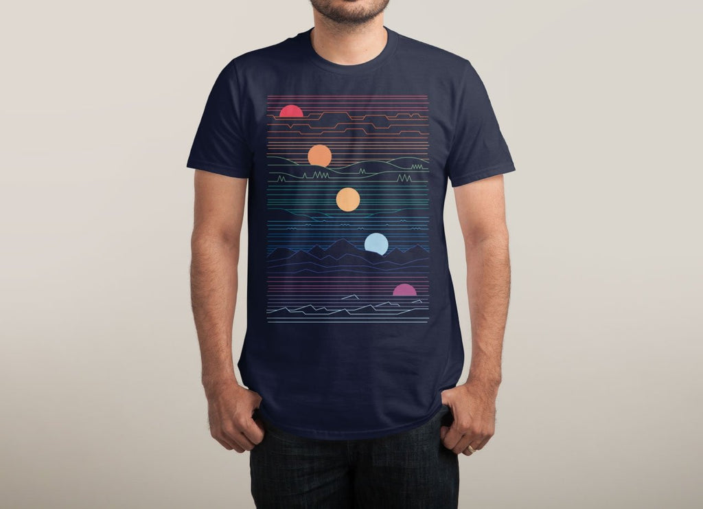 Threadless - Many Lands Under One Sun Navy T-Shirt by Rick Crane