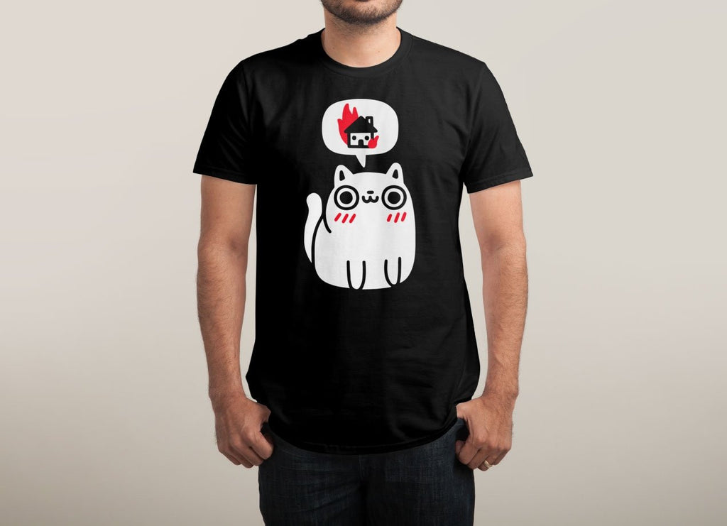 Threadless - DREAMING OF DESTRUCTION Black T-Shirt by Joel Robinson