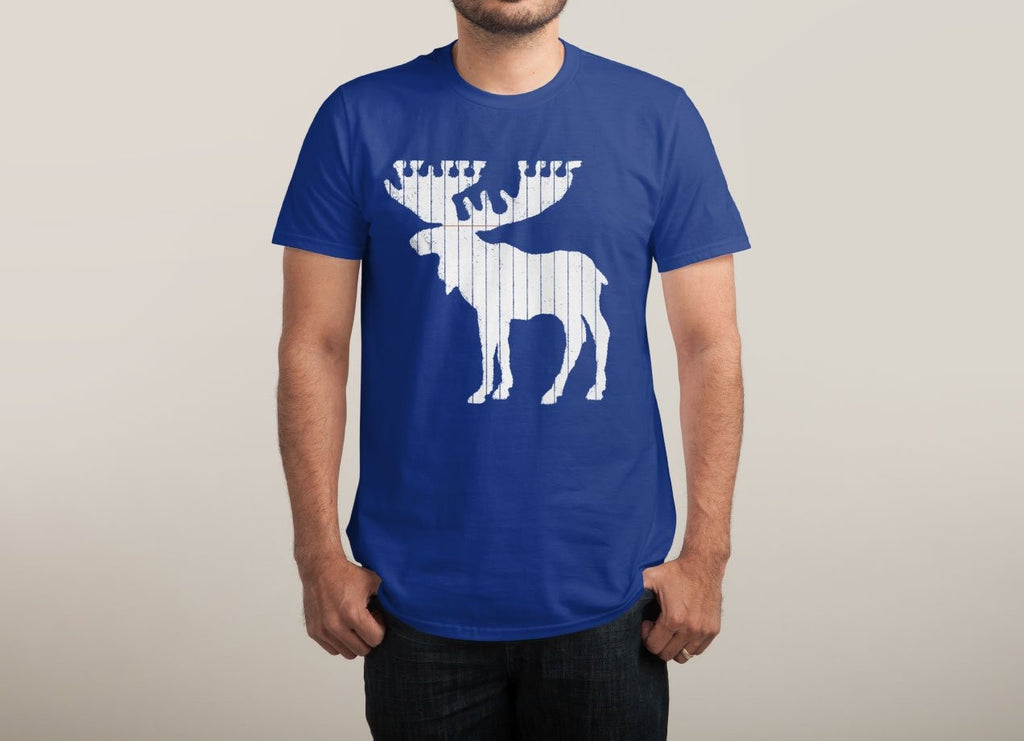Threadless - Moose Leaf Blue T-Shirt by Jason McDade