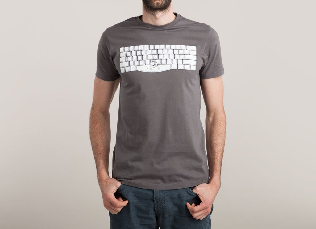 Threadless - SPACEBAR Dark Grey T-Shirt by Tomas De Santis