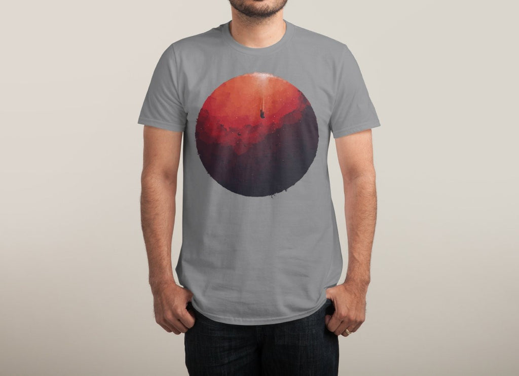 Threadless - Astral Projection Grey T-Shirt by Robson Borges