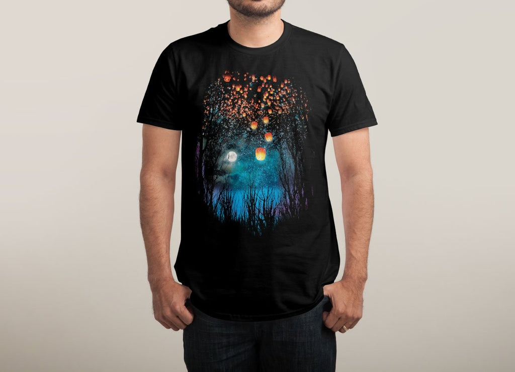 Threadless - HOPE IN THE SKY Black T-Shirt by Angela Tarantula