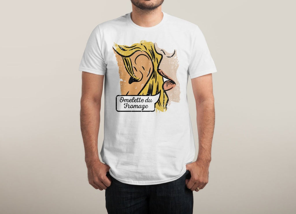 Threadless - Omelette du Fromage White T-Shirt by Lucia Sancho