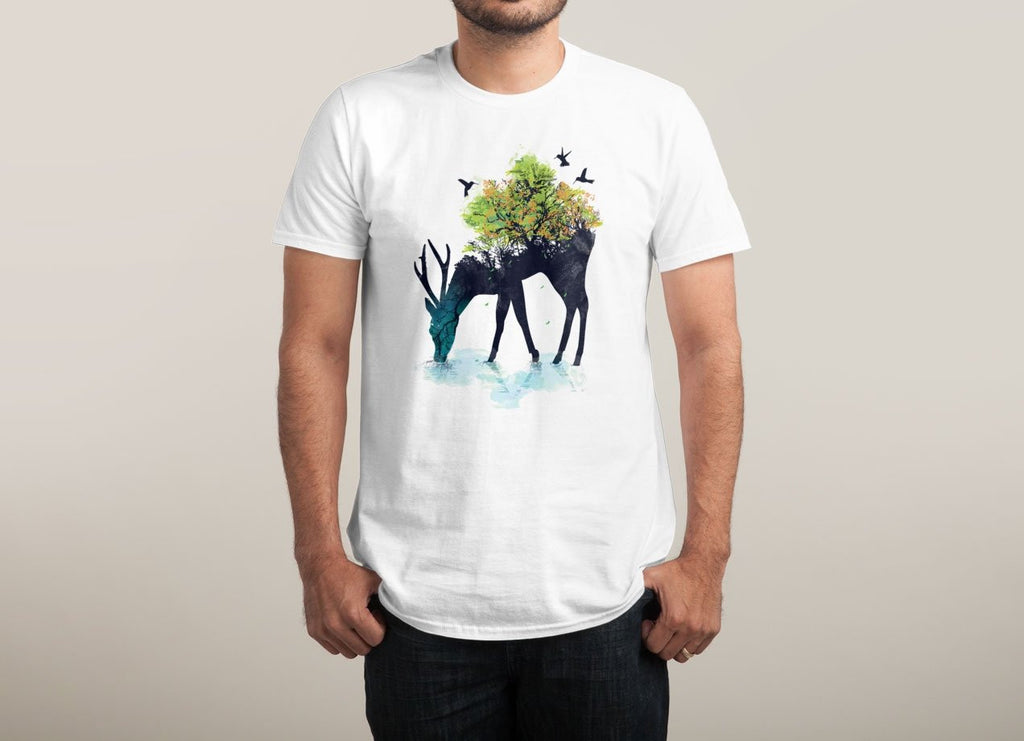 Threadless - WATERING (A LIFE INTO ITSELF) White T-Shirt by Budi Satria Kwan