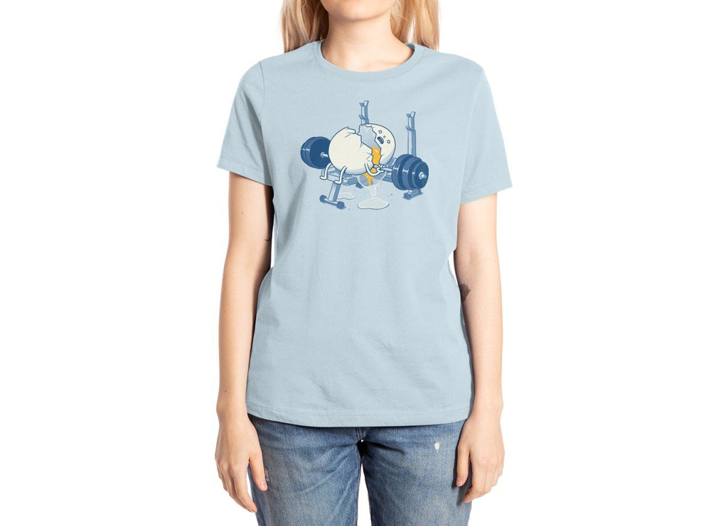 Threadless - WEIGHT LIFTING ACCIDENT Light Blue T-Shirt by Ben Chen
