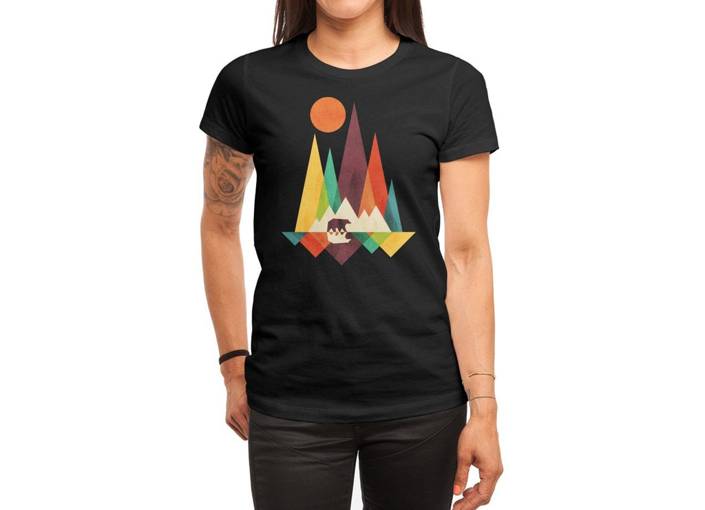 Threadless - THE GREAT OUTDOORS Black T-Shirt by Radiomode