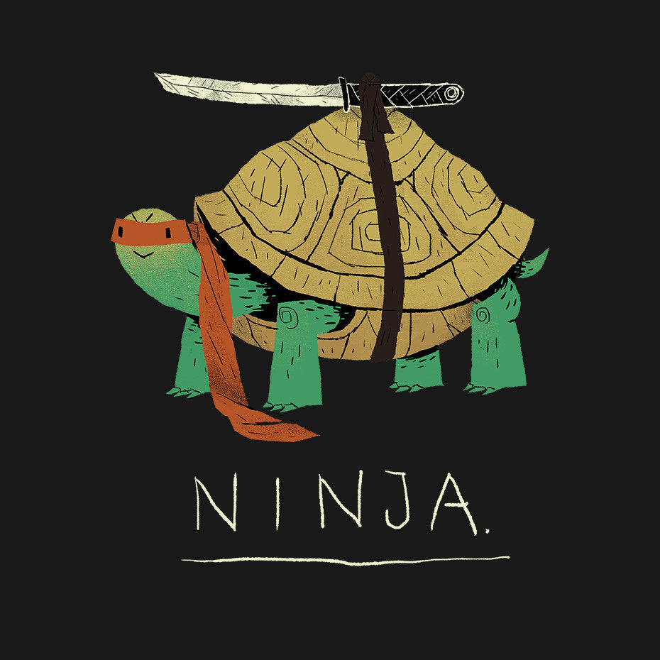 Artokingo - Ninja Black T-Shirt by Louis Roskosch