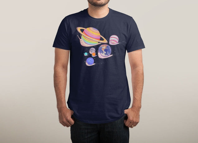 Threadless - UNIVERSE WALK Navy T-Shirt by Nevermine