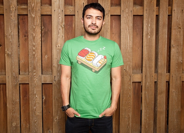 Threadless - SUSHI Green T-Shirt by Benjamin Ang