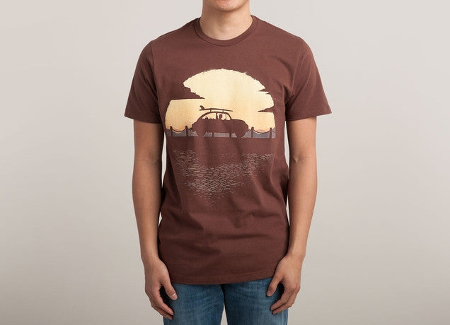 Threadless - SUMMER TRIP Brown T-Shirt by Martin Osimani