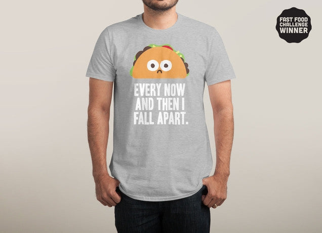 Threadless - TACO ECLIPSE OF THE HEART Grey T-Shirt by David Olenick