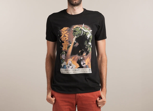 Threadless - BOWZILLA Black T-Shirt by Estudio Verso