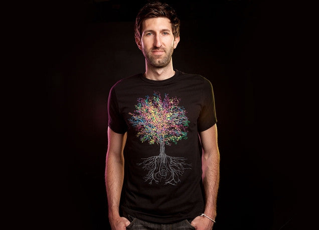 Threadless - IT GROWS ON TREES Black T-Shirt by John Tibbott