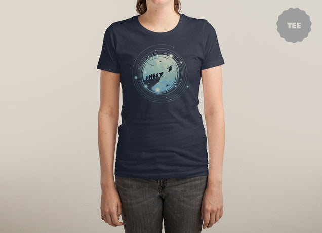 Threadless - I BELIEVE I CAN FLY Navy T-Shirt by Steve Toang